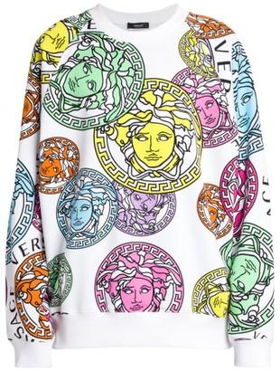 Versace Stamp Printed Sweatshirt