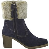 Tamaris Resia Leather Fur-Lined Boots