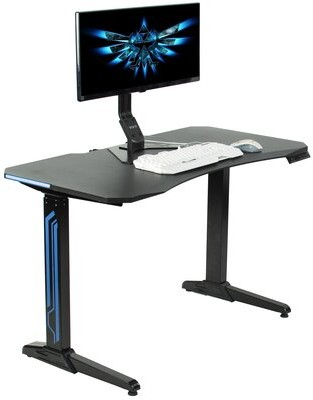 Vivo Electric Computer Height Adjustable Gaming Desk