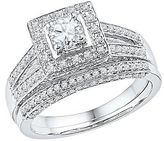 1.00 CT. T.W. Round Diamond Prong Set Bridal Ring in 10K White Gold