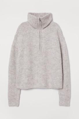H&M Rib-knit Wool-blend Sweater