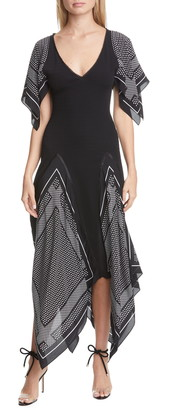 Altuzarra Woven Inset Knit Midi Dress