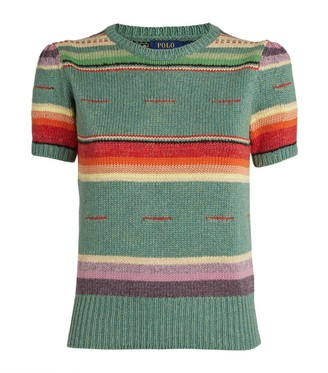 Polo Ralph Lauren Short-Sleeved Striped Sweater
