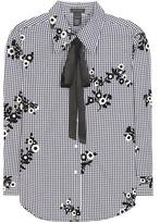 Marc Jacobs Gingham Cotton Shirt With Appliqué