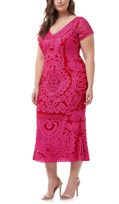 JS Collections Soutache Trumpet Dress