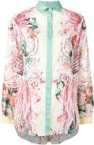 Roberto Cavalli floral print shirt - women - Cotton - 44