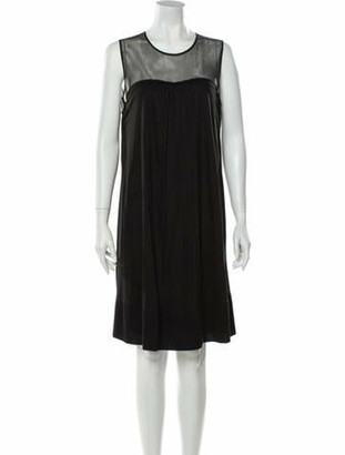 Burberry Crew Neck Knee-Length Dress w/ Tags Black