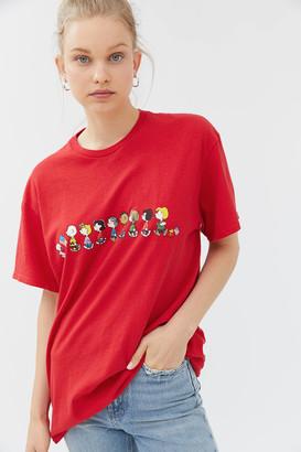 Junk Food Clothing Peanuts American Flag Tee