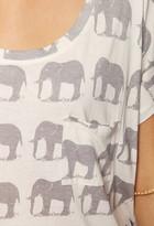 Forever 21 Scoop Neck Elephant Top