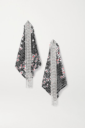 Paco Rabanne Fold Chainmail And Crystal Earrings