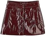 Billieblush Faux-Patent-Leather Miniskirt