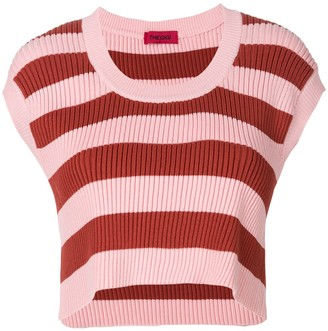 The Gigi Cropped Striped Knit Top