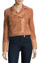 Rachel Zoe Suede and Leather Moto Jacket