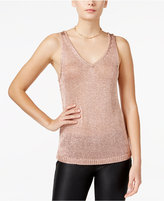 Bar III Metallic Sweater Tank Top, Only at Macy's