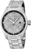 Alpina AL-525GB4S6B Men's Startimer Pilot Sunstar Grey Dial Steel Bracelet Automatic Watch