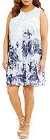 Calvin Klein Plus Printed Inverted Pleat Dress