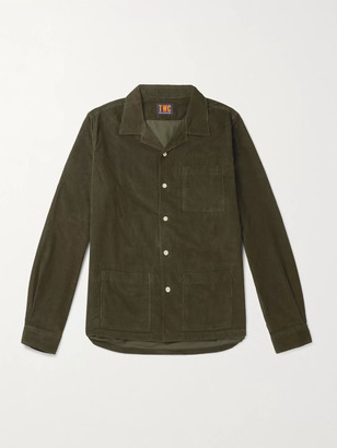 The Workers Club Camp-Collar Garment-Dyed Cotton-Corduroy Overshirt