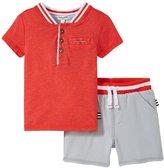 Splendid Henley Short Set (Baby) - Red - 6-12 - 6-12 Months