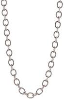 Judith Jack Sterling Silver Pave Swarovski Marcasite & Crystal Link Necklace