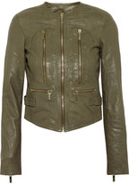 MICHAEL Michael Kors Crinkled leather jacket