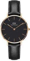 Daniel Wellington 32mm Classic Petite Sheffield Watch, Black/Rose Golden