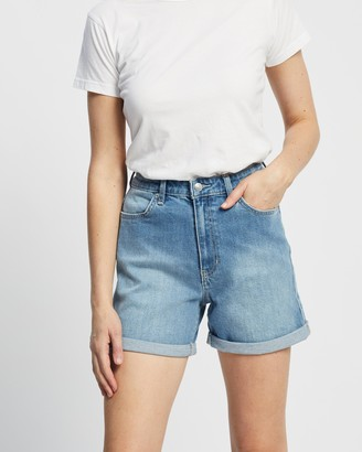 Lee Women's Blue Denim - Girlfriend Shorts - Size 6 at The Iconic