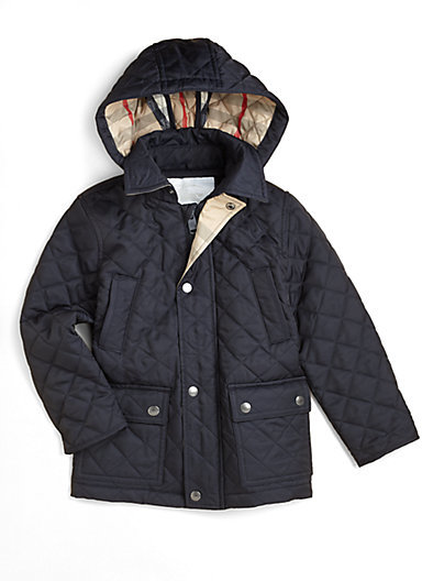 Burberry Little Boy's Quilted Hooded Jacket