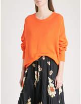 Allude Split-hem waffle-knit cashmere jumper