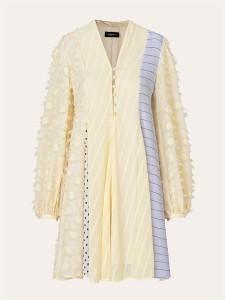 Stine Goya Vico Chiffon Mix Dress Daffodil - S
