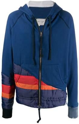 Greg Lauren contrast panelled hoodie