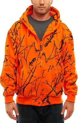 Trailcrest Men's Sweatshirts and Hoodies 85 - Orange Camo Double-Fleece Full-Zip Hoodie - Men