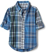 Gap Multi plaid convertible shirt