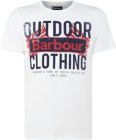 Barbour Men's Large outdoor logo short sleeve t-shirt