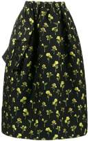Simone Rocha floral embroidered asymmetric full skirt