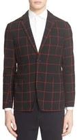 TOMORROWLAND Men's Windowpane Check Cardigan Jacket