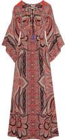 Etro Tassel-trimmed Paisley-print Silk Gown - Burgundy