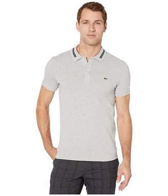 Lacoste Short Sleeve 2 Ply Pique Semi Fancy Polo Slim