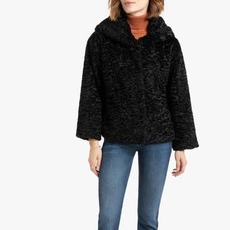 Freeman T. Porter Short Faux Fur Coat with Hood