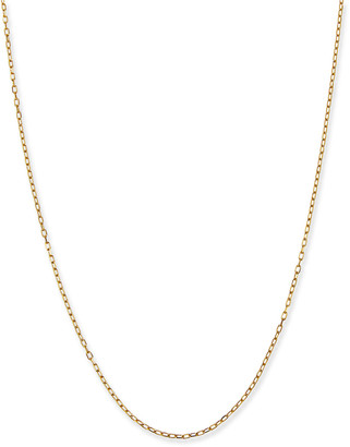 "Siena Jewelry 14k Yellow Gold Thin Charm Chain, 18""L"