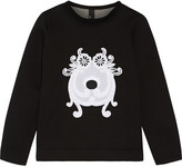 Mother of Pearl Edith embroidered bonded jersey sweatshirt