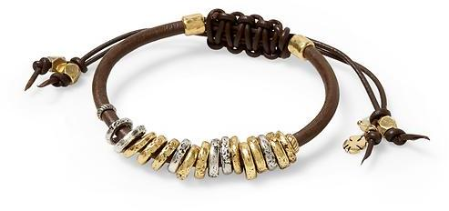 Lucky Brand Rings on Leather Bracelet