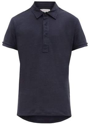 Orlebar Brown Sebastian Linen Polo Shirt - Mens - Navy