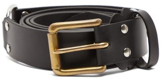 Charles Jeffrey Loverboy Collage Studded Leather Belt - Black Multi