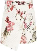 River Island Girls white floral print wrap mini skirt