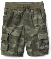 Gap Camo pull-on cargo shorts
