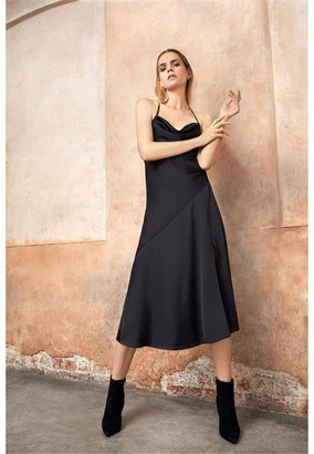 Firetrap Blackseal Cowl Neck Midi Dress