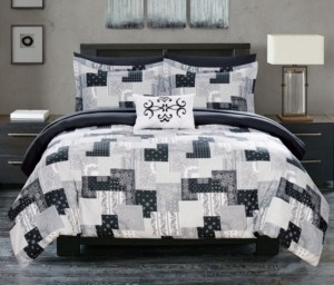 Chic Home Millennia 8 Piece King Bed In a Bag Comforter Set Bedding