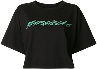 MM6 MAISON MARGIELA cropped logo T-shirt