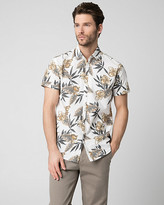 Le Château Floral Print Cotton Tailored Fit Shirt