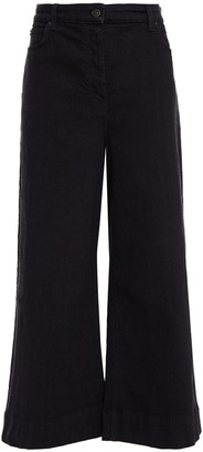 The Row Edna Cropped High-rise Wide-leg Jeans